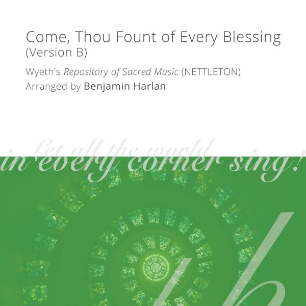Harlan Arrangement Cover (Come, Thou Fount Version B)