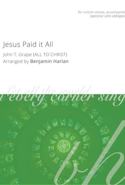 Jesus Paid it All