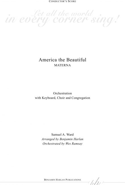 America the Beautiful ORCH