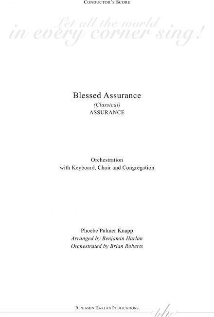 Blessed Assurance (Classical) ORCH