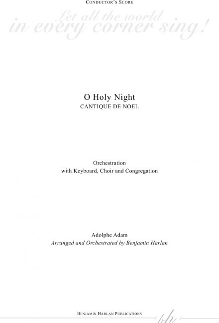 O Holy Night ORCH