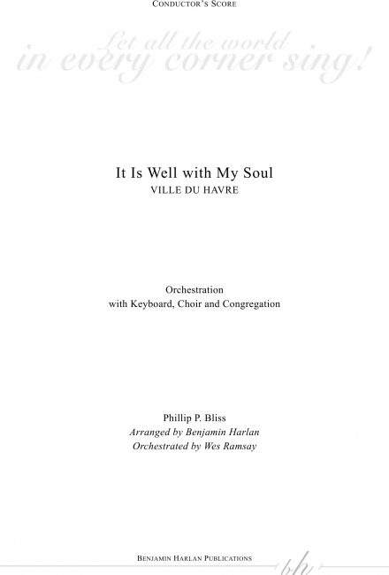 It Is Well with My Soul ORCH
